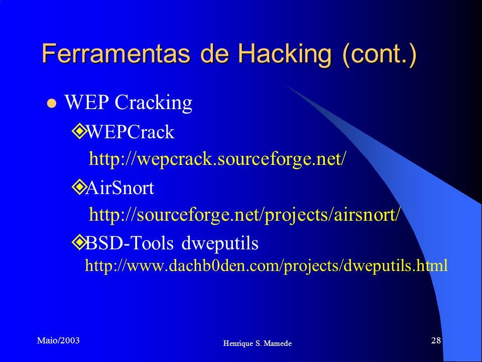 Ferramentas de Hacking (cont.)
