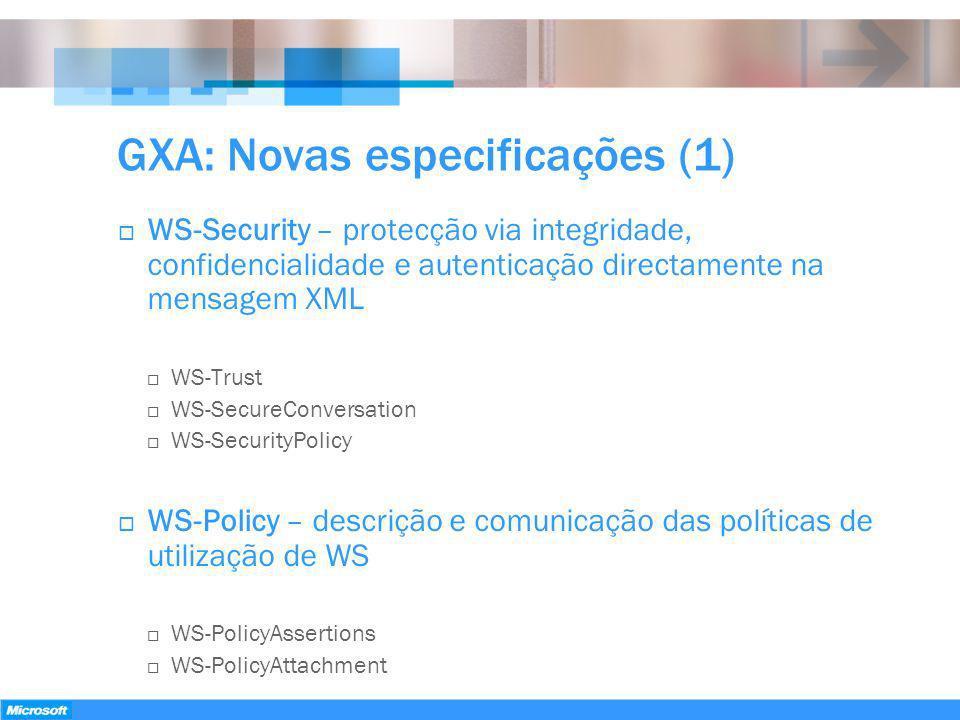 GXA: Novas especificações (1)