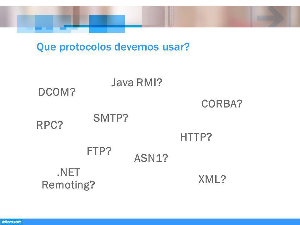 Que protocolos devemos usar