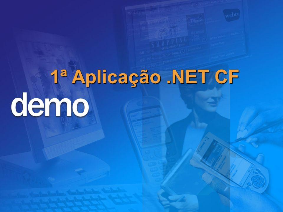 .NET Mobile Web SDK 1ª Aplicação .NET CF Microsoft Confidential