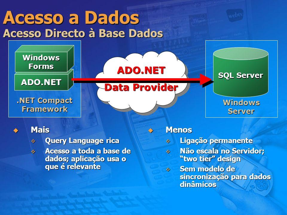Acesso a Dados Acesso Directo à Base Dados