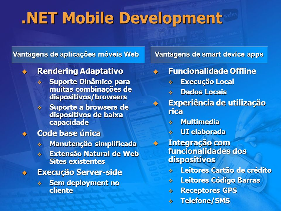 .NET Mobile Development