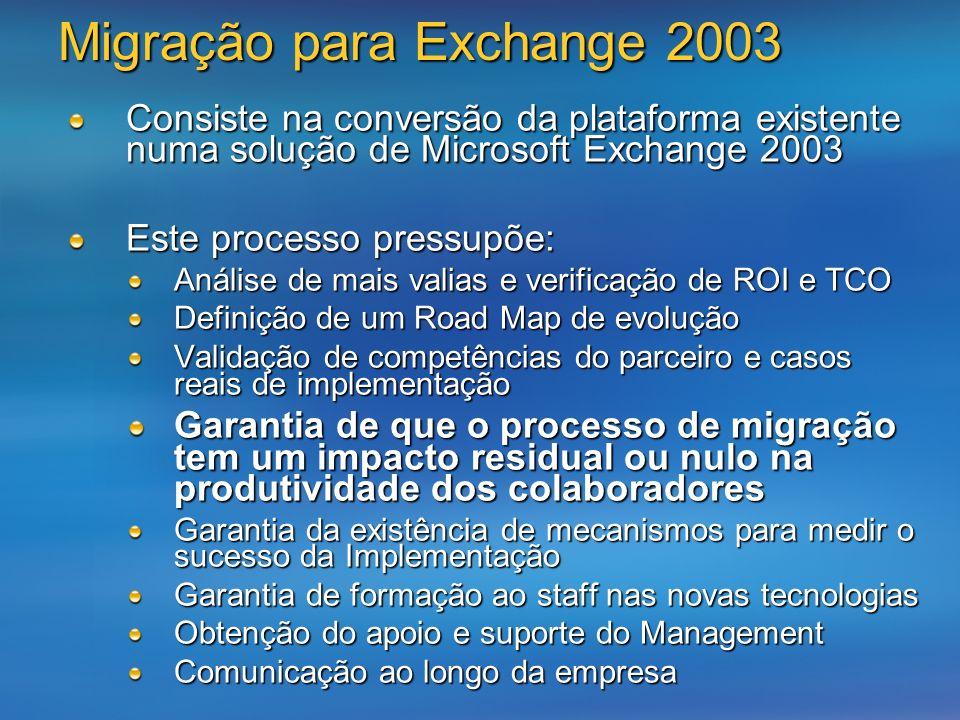 Migração para Exchange 2003