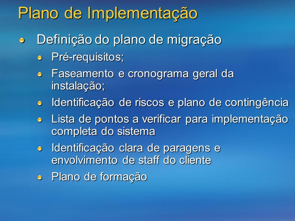 Plano de Implementação