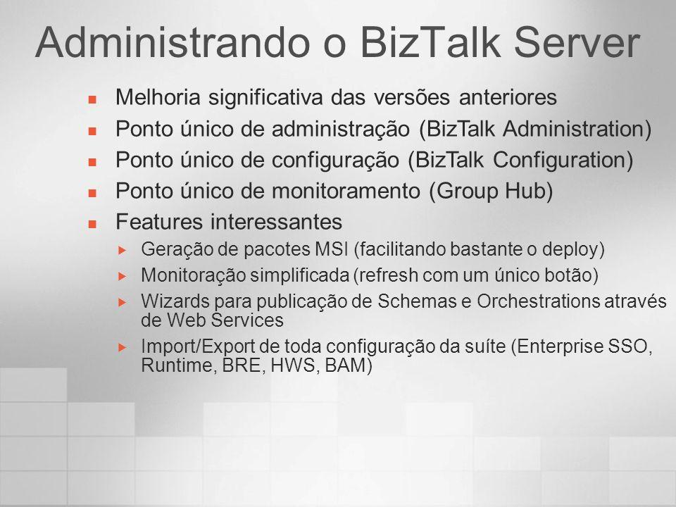 Administrando o BizTalk Server