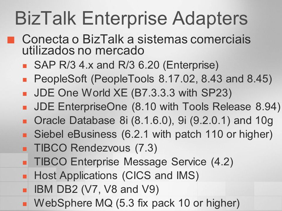 BizTalk Enterprise Adapters
