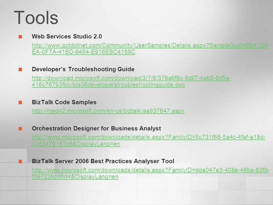 Tools Web Services Studio 2.0 Developer's Troubleshooting Guide