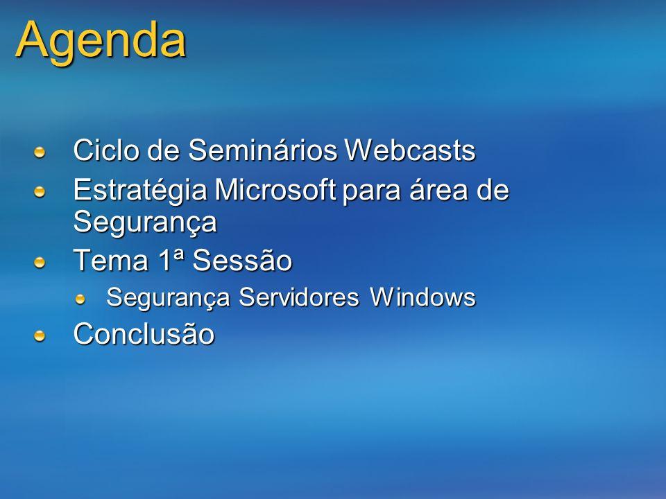 Agenda Ciclo de Seminários Webcasts