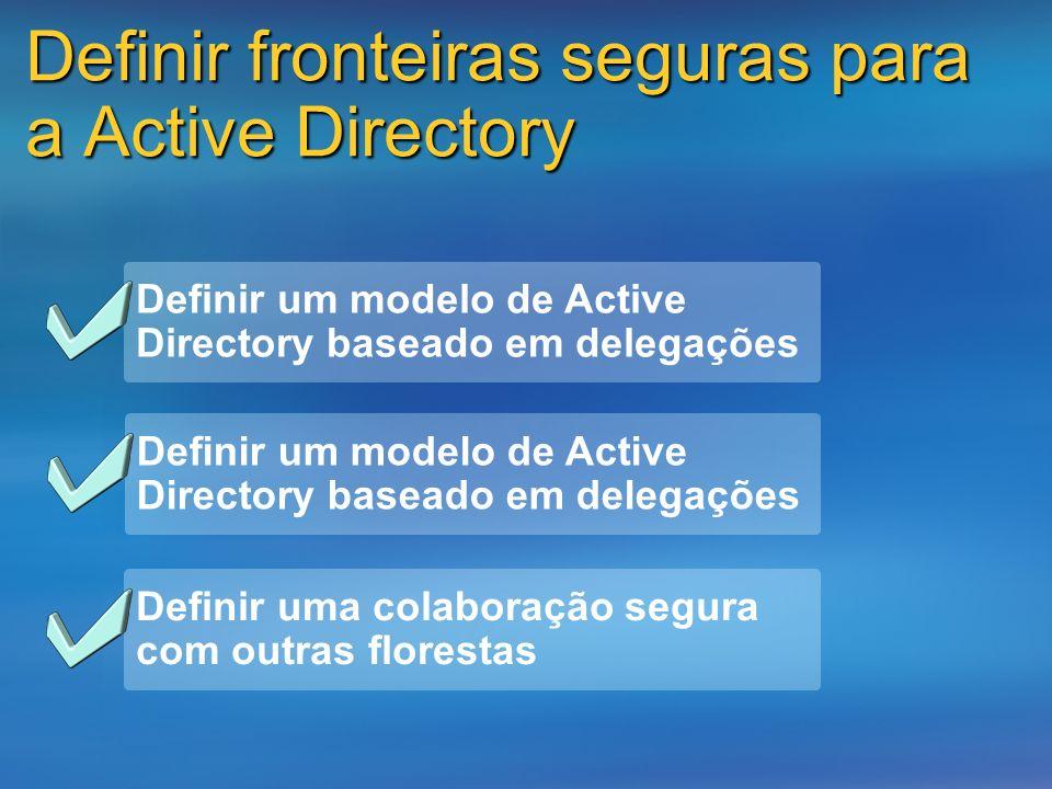 Definir fronteiras seguras para a Active Directory