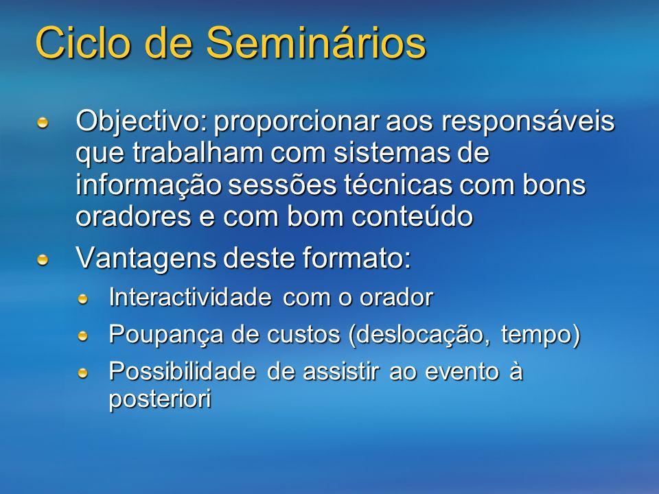 Ciclo de Seminários