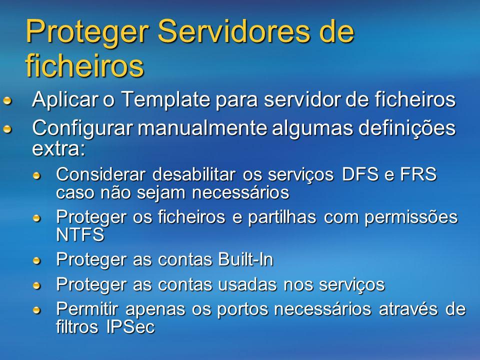 Proteger Servidores de ficheiros