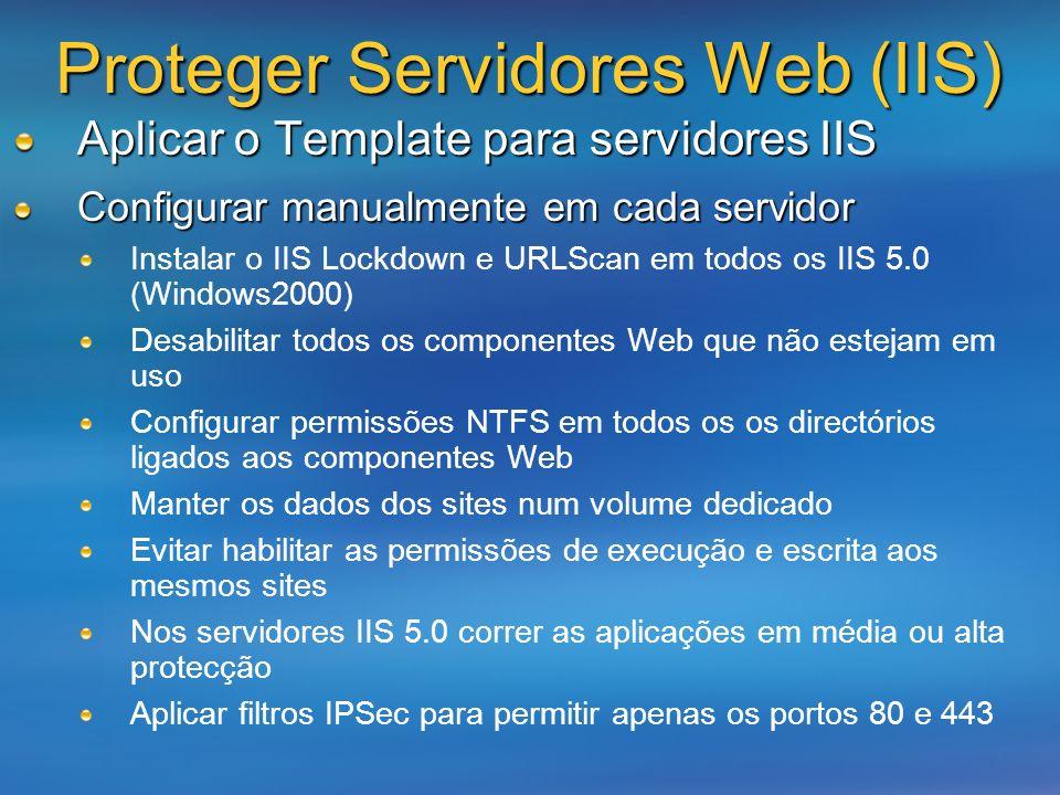 Proteger Servidores Web (IIS)