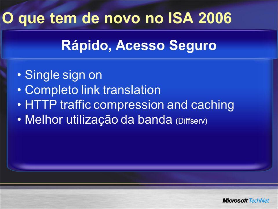 O que tem de novo no ISA 2006 Rápido, Acesso Seguro Single sign on