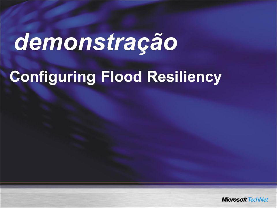 demonstração Demo Configuring Flood Resiliency