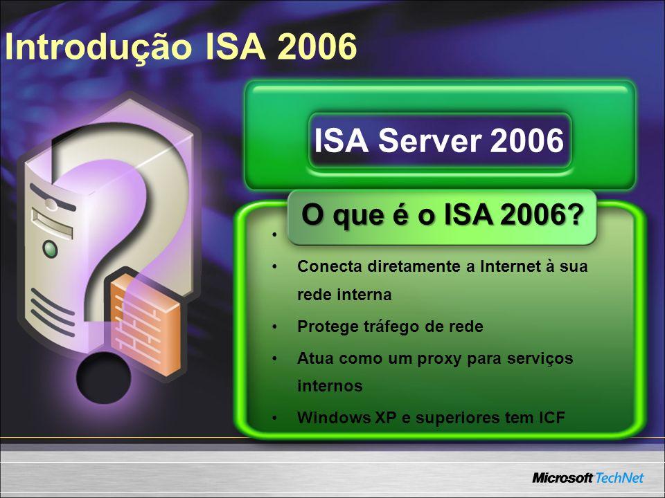 Introdução ISA 2006 ISA Server 2006 O que é o ISA 2006
