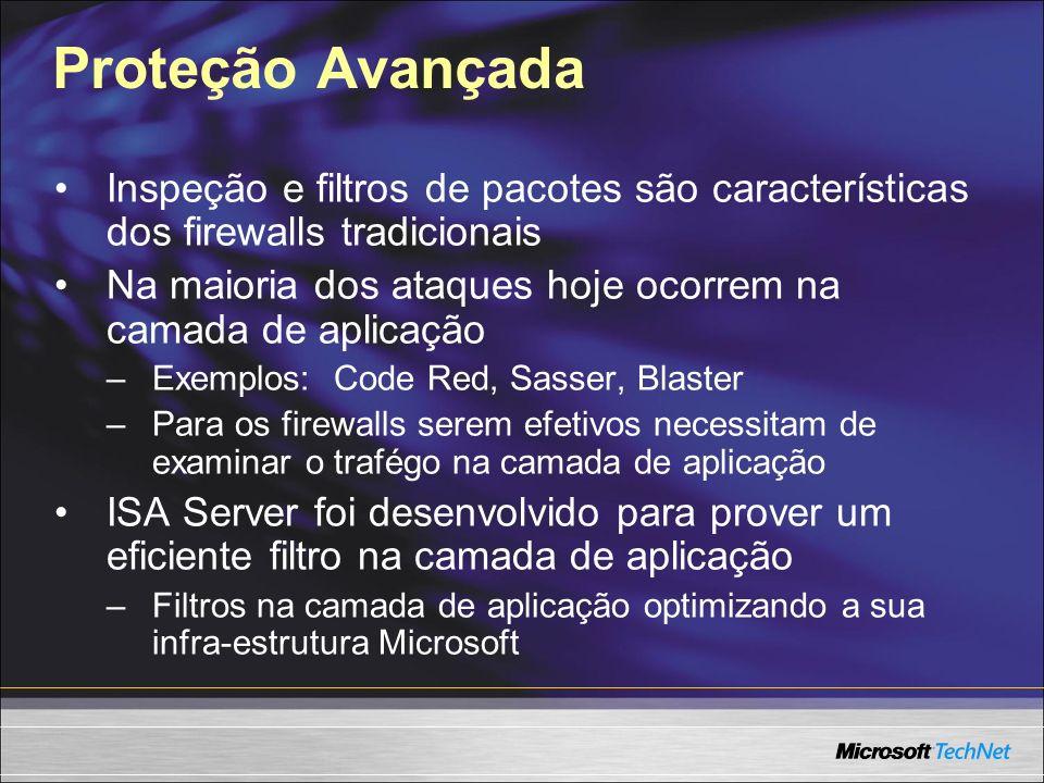Proteção Avançada Inspeção e filtros de pacotes são características dos firewalls tradicionais.