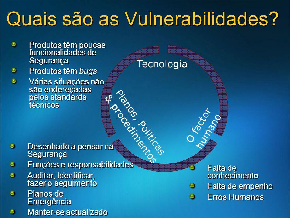 Quais são as Vulnerabilidades