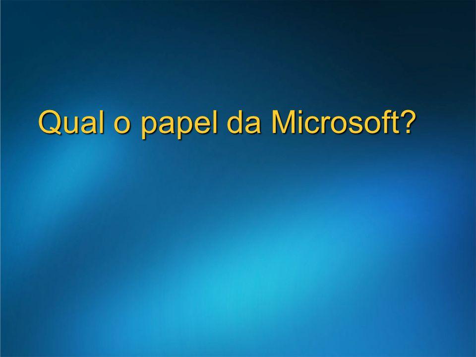 Qual o papel da Microsoft