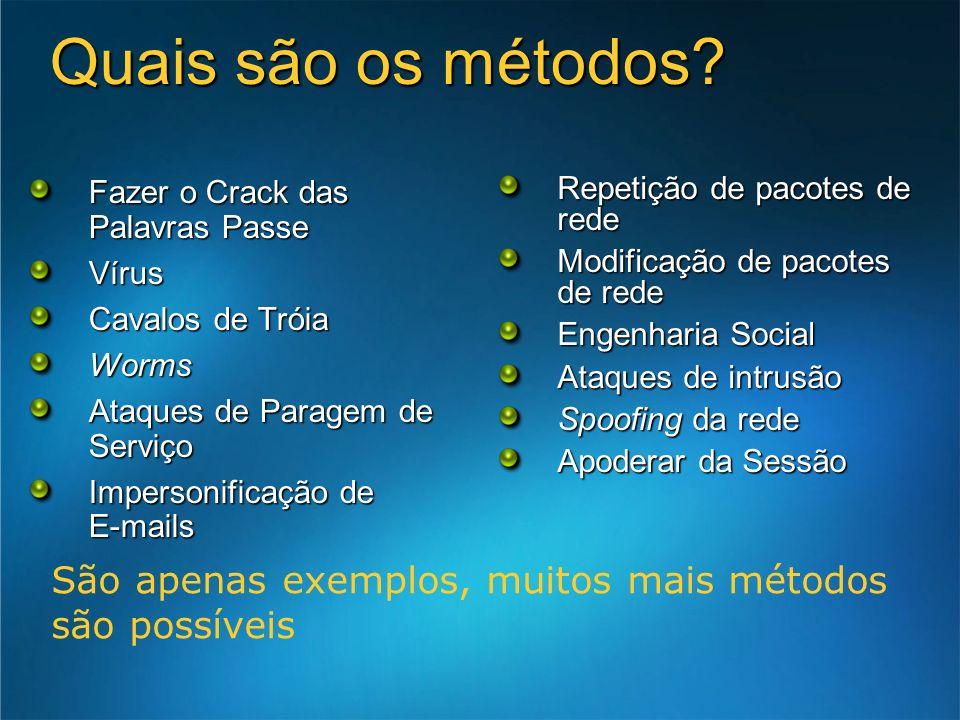 3/24/2017 7:55 AM Quais são os métodos Fazer o Crack das Palavras Passe. Vírus. Cavalos de Tróia.