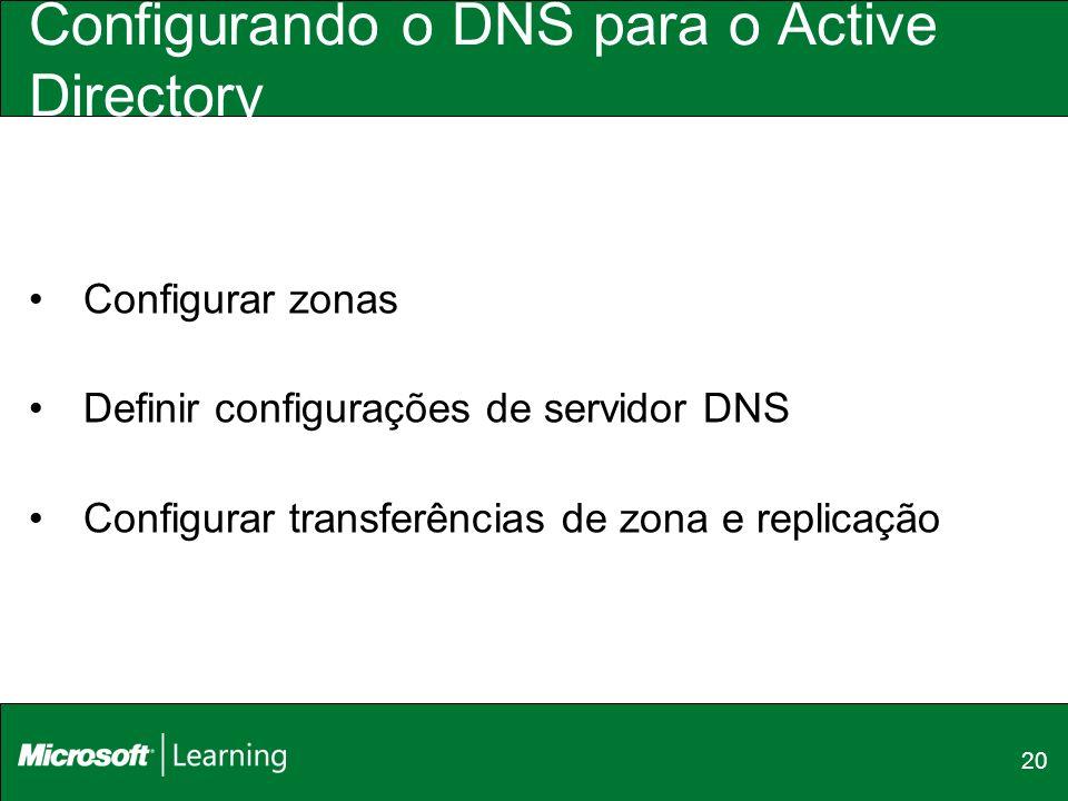Configurando o DNS para o Active Directory