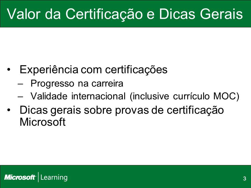 Valor da Certificação e Dicas Gerais