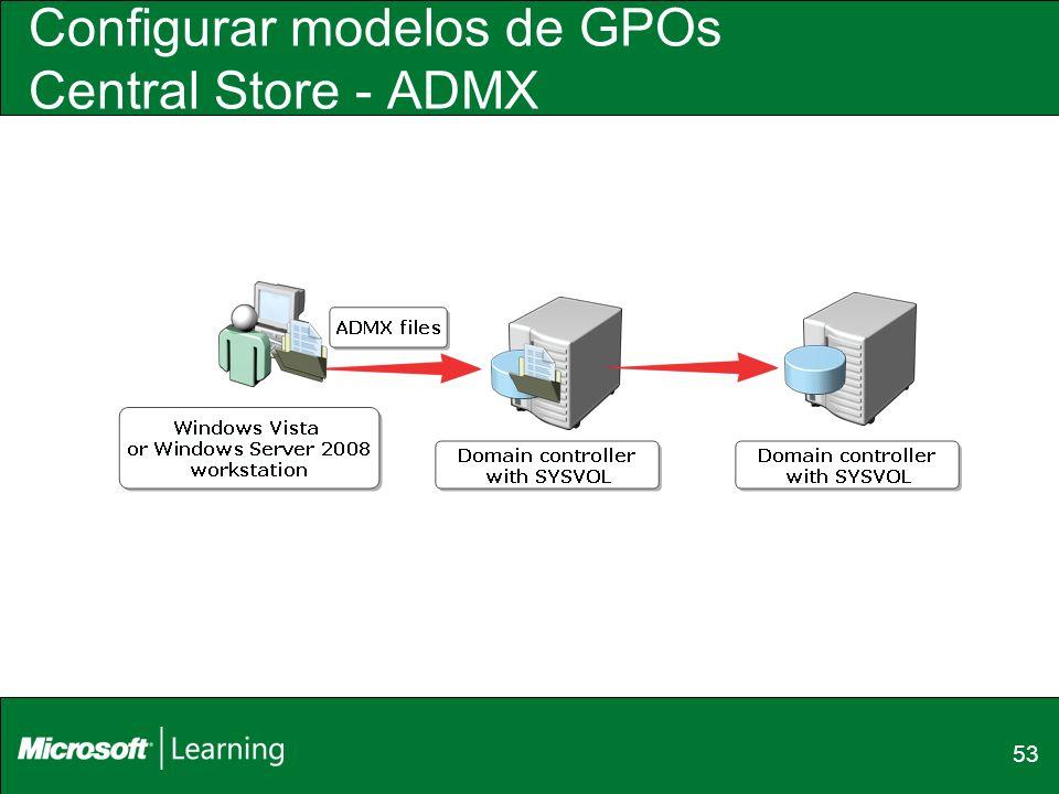 Configurar modelos de GPOs Central Store - ADMX
