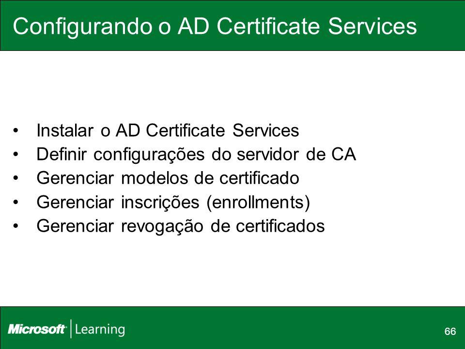 Configurando o AD Certificate Services