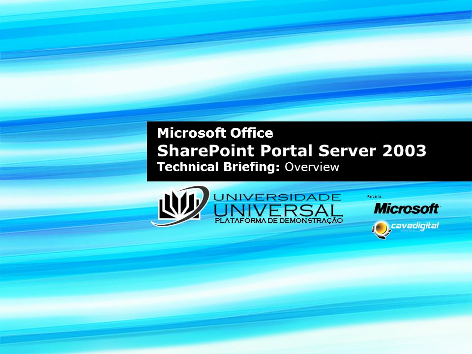 Microsoft Office SharePoint Portal Server 2003 Technical Briefing: Overview