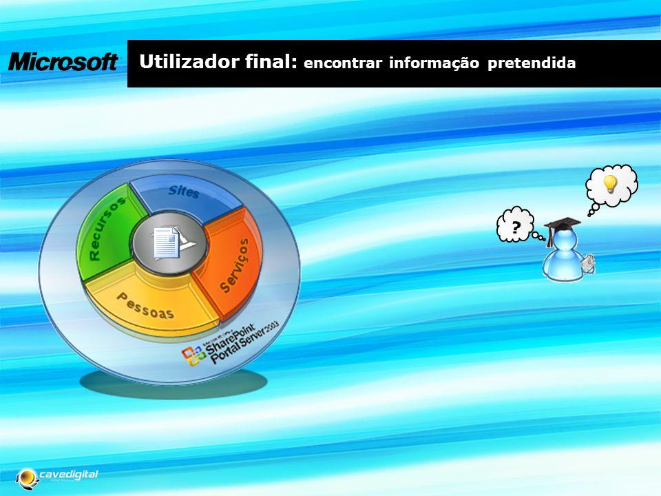 Utilizador final: encontrar informação pretendida