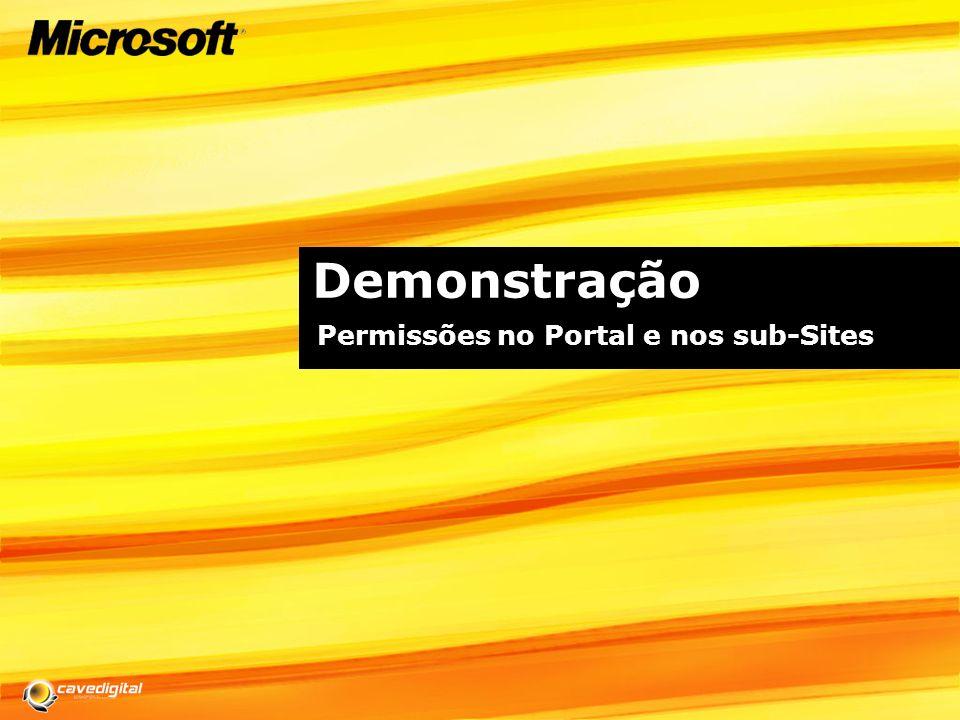Demonstração Permissões no Portal e nos sub-Sites