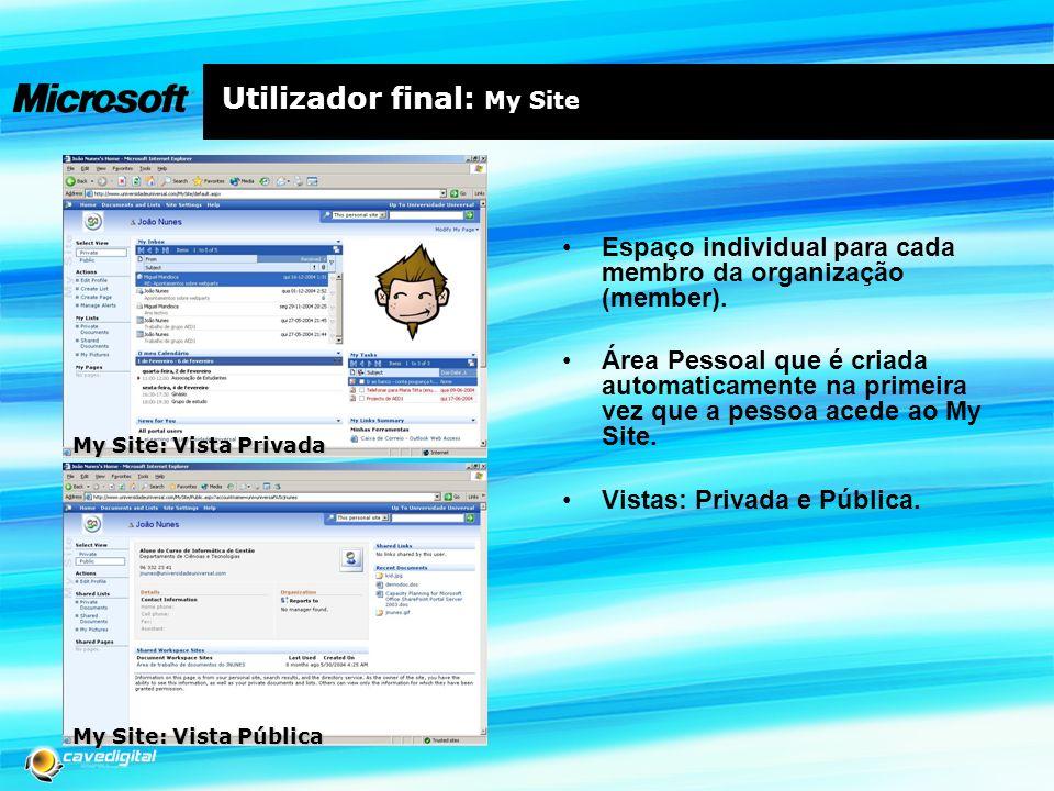 Utilizador final: My Site