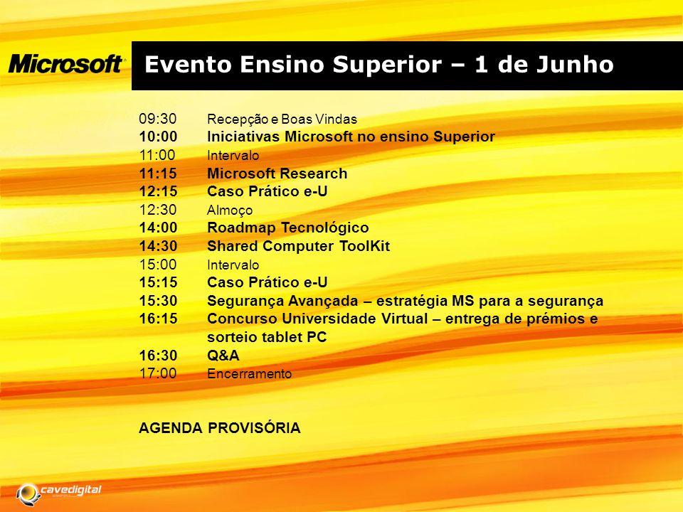Evento Ensino Superior – 1 de Junho