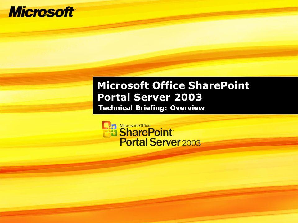Microsoft Office SharePoint Portal Server 2003