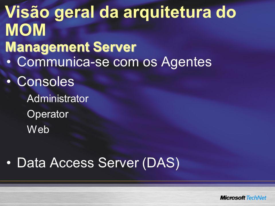 Visão geral da arquitetura do MOM Management Server