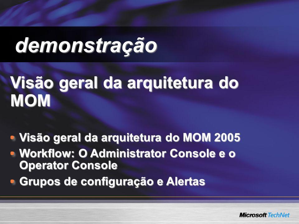 demonstração Visão geral da arquitetura do MOM