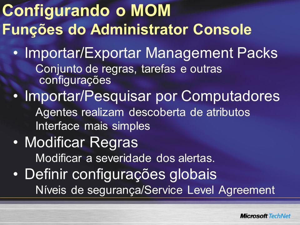Configurando o MOM Funções do Administrator Console