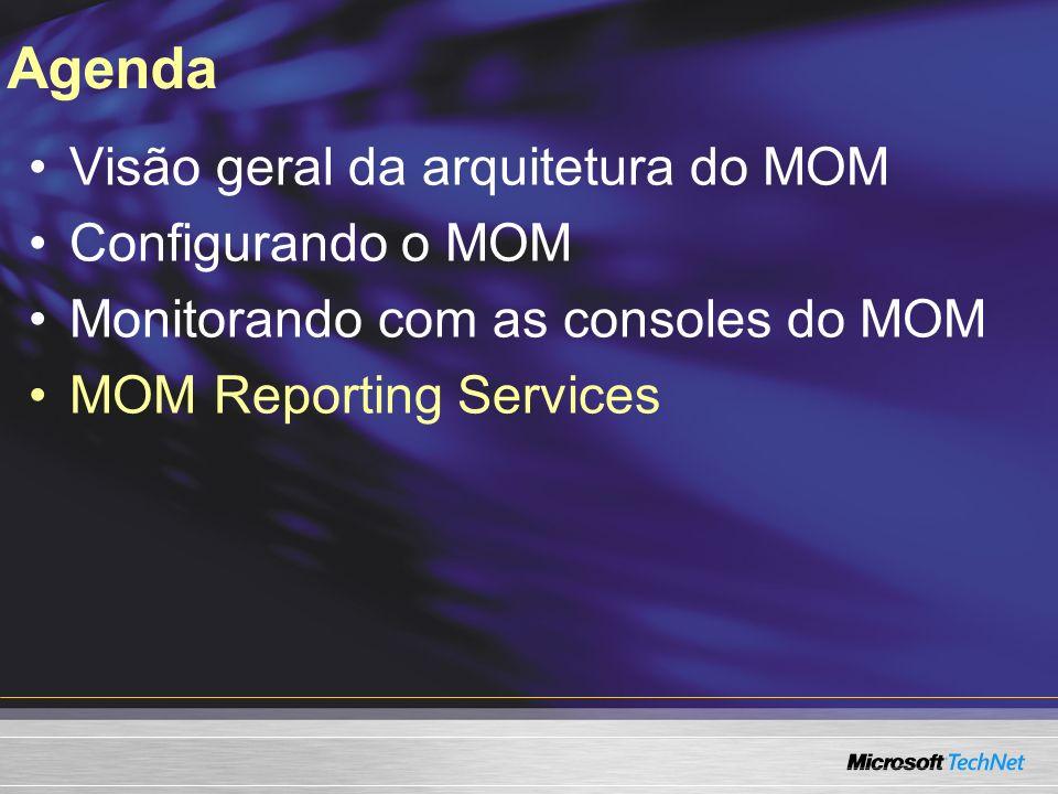 Agenda Visão geral da arquitetura do MOM Configurando o MOM