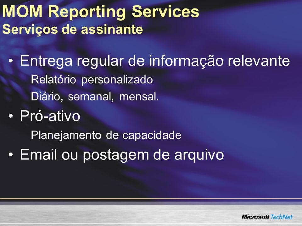MOM Reporting Services Serviços de assinante