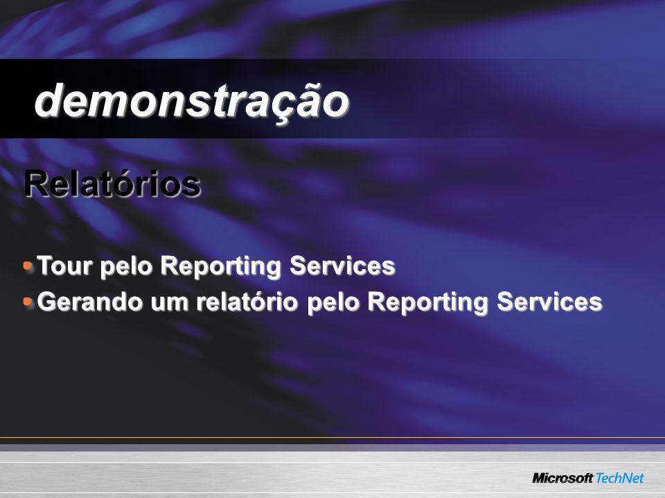 demonstração Relatórios Tour pelo Reporting Services