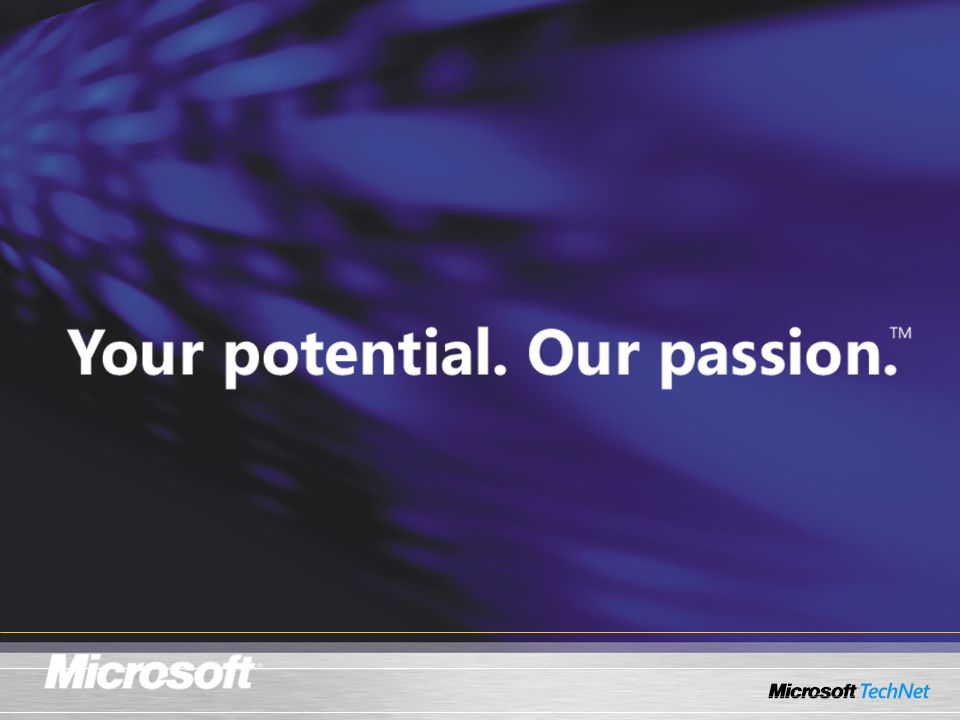 KEY MESSAGE: Tag line. SLIDE BUILDS: SLIDE SCRIPT: Your potential. Our passion. SLIDE TRANSITION: