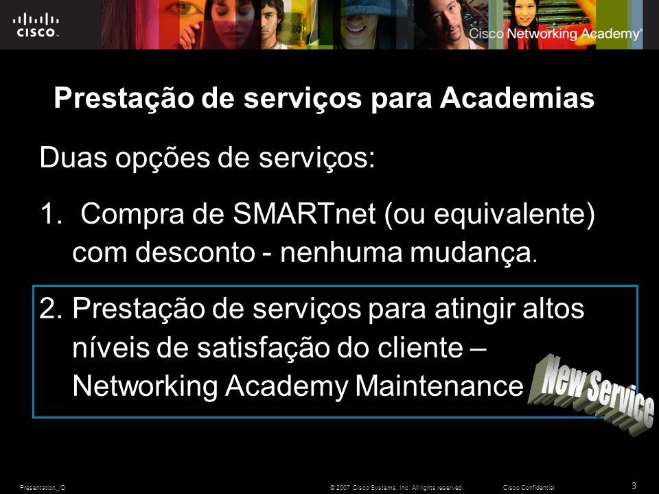 Prestação de serviços para Academias