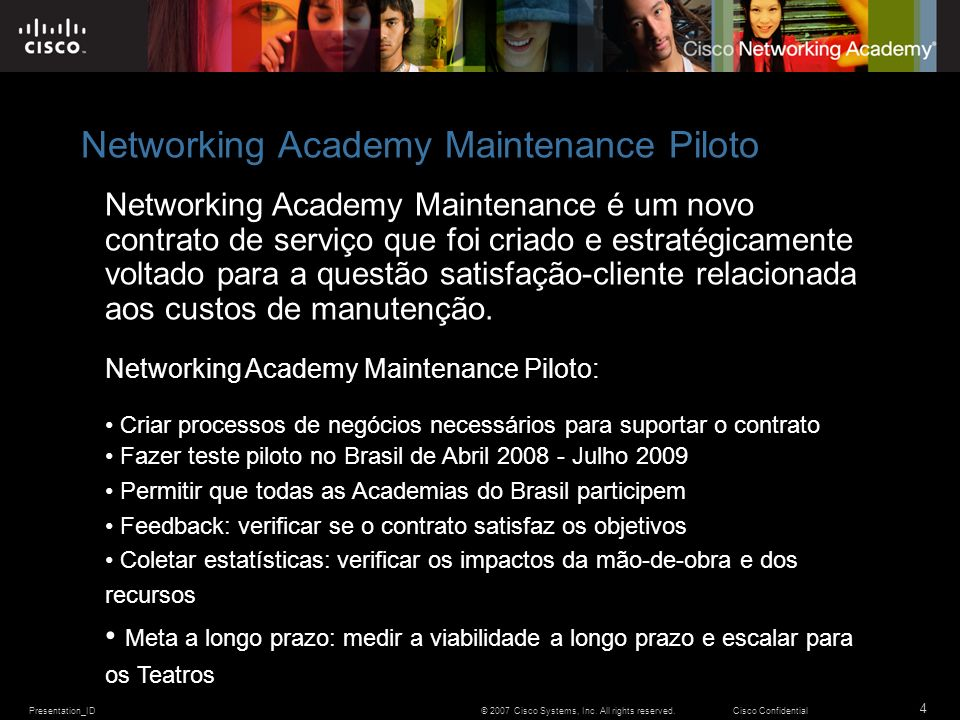 Networking Academy Maintenance Piloto