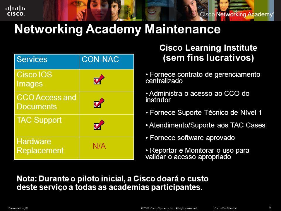 Networking Academy Maintenance
