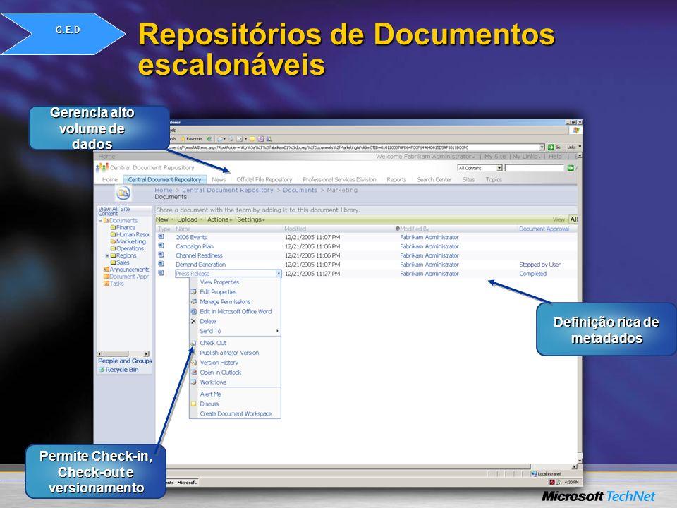 Repositórios de Documentos escalonáveis