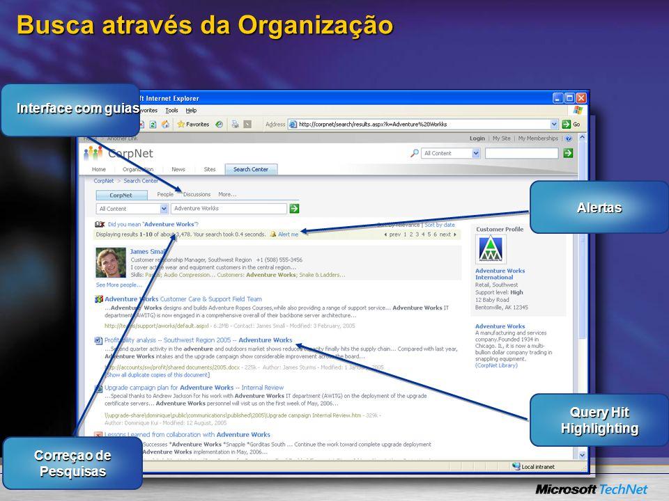 Busca através da Organização