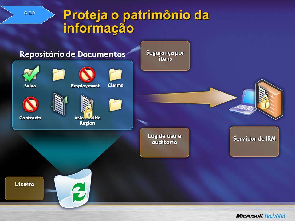 Proteja o patrimônio da informação