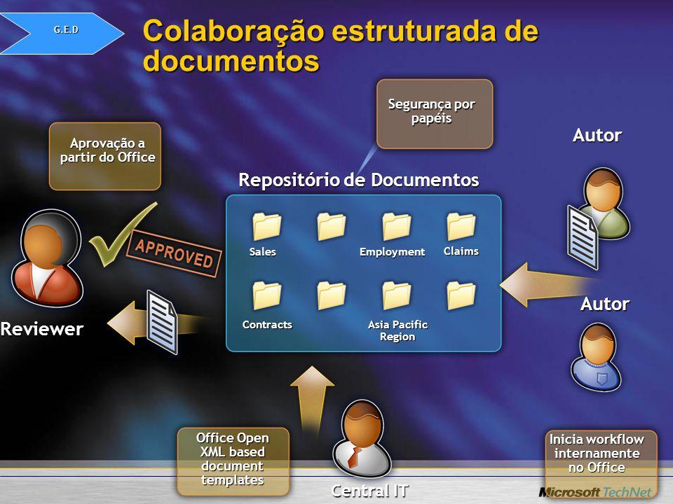 Colaboração estruturada de documentos