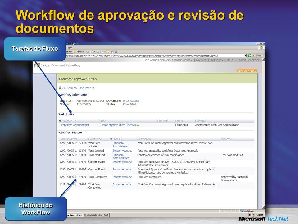 Workflow de aprovação e revisão de documentos