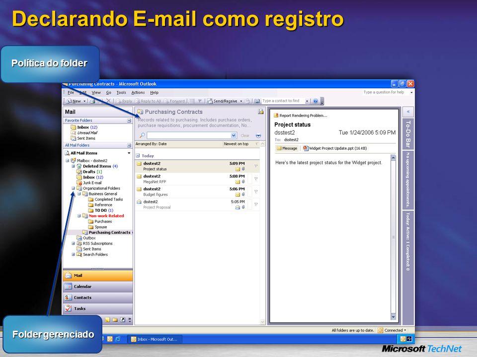 Declarando E-mail como registro