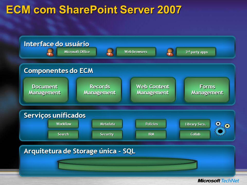 ECM com SharePoint Server 2007